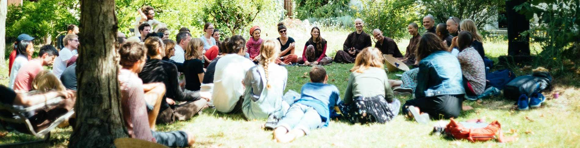 Meditation retreat at The Barn at The Sharpham Trust