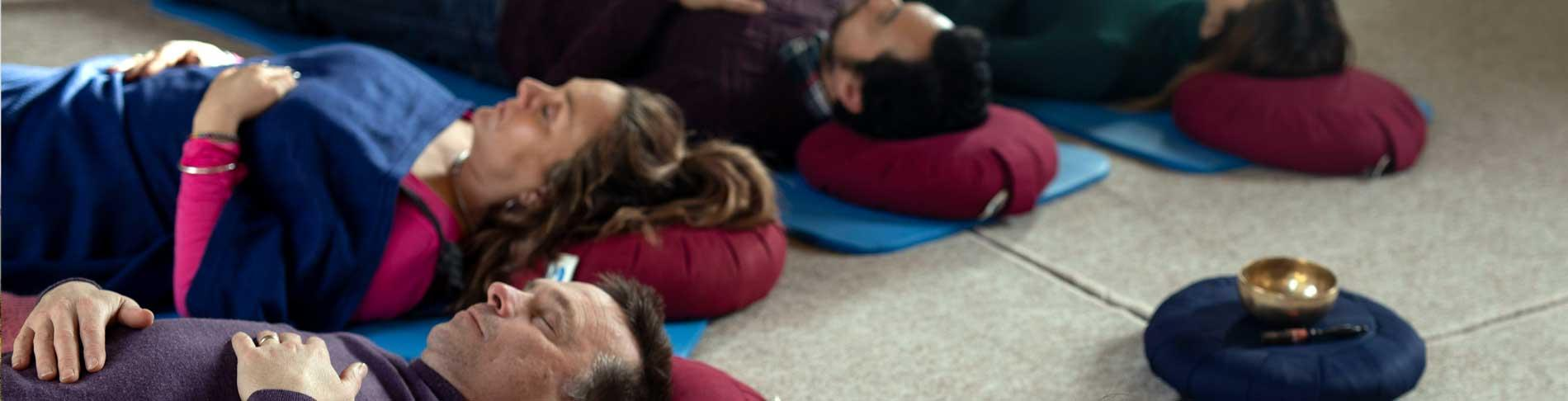 Incorporate mindfulness principles into yoga at Sharpham