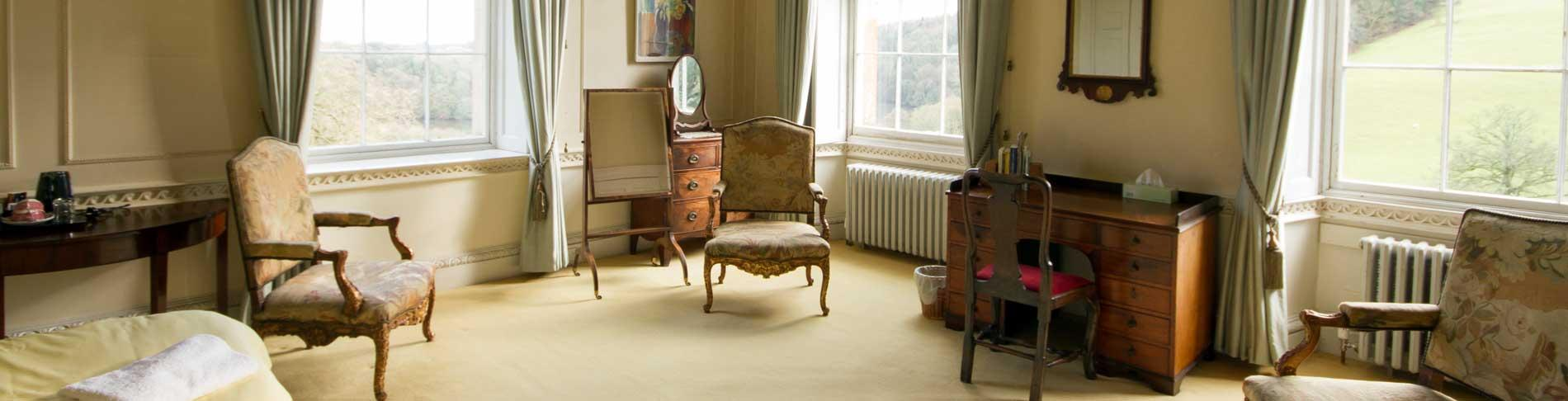Elegant yet comfortable surroundings in Sharpham House