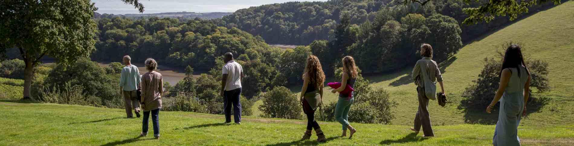 Mindfulness and walking - a retreat at Sharpham