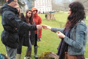 Our foraging expert Brigit-Anna McNeill led a walk on the day