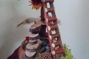 A beautifully-crafted fairy staircase produced in the Naturemake workshop at Apple Day