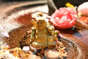 Hotei in the Fountain