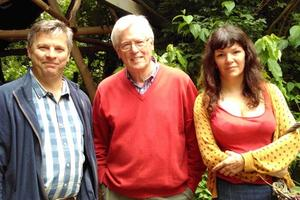 Trust Director Julian Carnell meets BBC Countryfile's John Craven and Sharpham forager Brigit-Anna McNeill