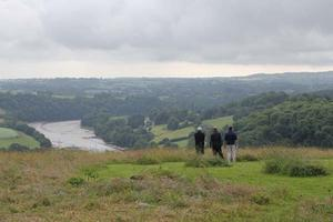 The BBC Countryfile film crew take in the view from Sharpham Meadow Natural Burial Ground (picture copyright: BBC)