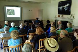 Visitors hear about the history of Sharpham