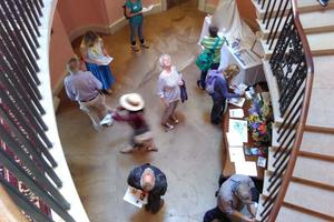 Tours of Sharpham House were popular, as always
