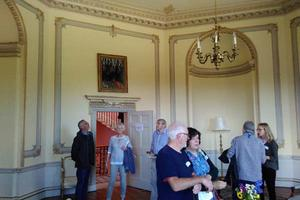 Here, visitors enjoy the Octagonal Room