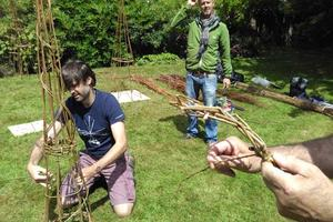 Willow weaving on Sharpham's Summer Open Day
