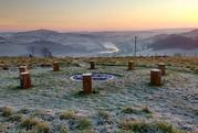Sharpham Meadow in the frost
