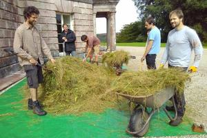 The delivery of hay, full of wildflower seeds, including Yellow Rattle