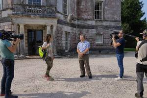ITV's Julia Bradbury and Trust Director Julian Carnell on the day of filming in September 2020