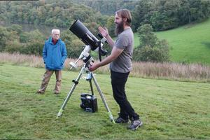 Rob Tilsley of Dartmoor Skies demonstrates the telescope