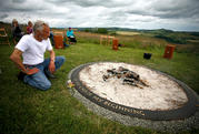 Launch event of new work by Artist in Residence Robin Lacey - 'Circle' at Sharpham Meadow Burial Ground