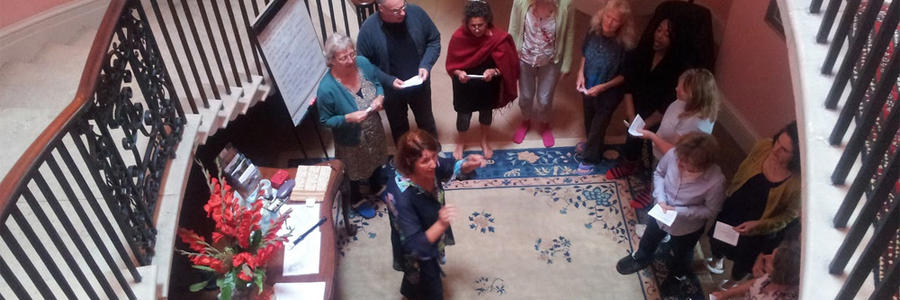 Mindful singers at Sharpham