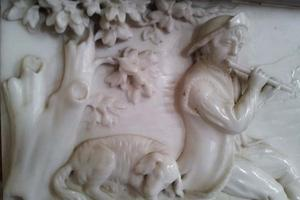 Detail from the marble frieze in the Octagonal Room