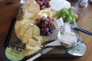 Enjoy award-winning Sharpham Cheeses - made on the Estate