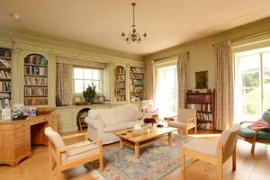 The Library - a warm, comfy space to relax or meet in