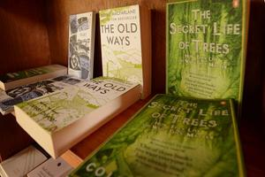 The bookshop in Sharpham's library