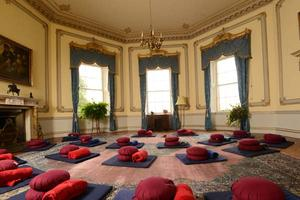 How the Octagonal Room looks on our yoga retreats