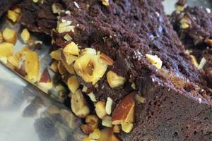 Vegan & gluten-free hazelnut brownie