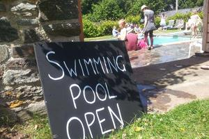 Our pool gets used on Open Days