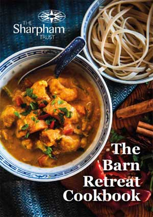 Vegetarian and vegan recipes in The Barn Retreat Cookbook from The Sharpham Trust