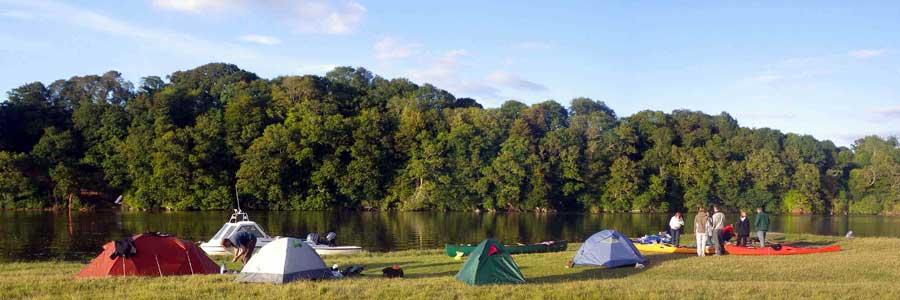 Camping at Point Field, Sharpham