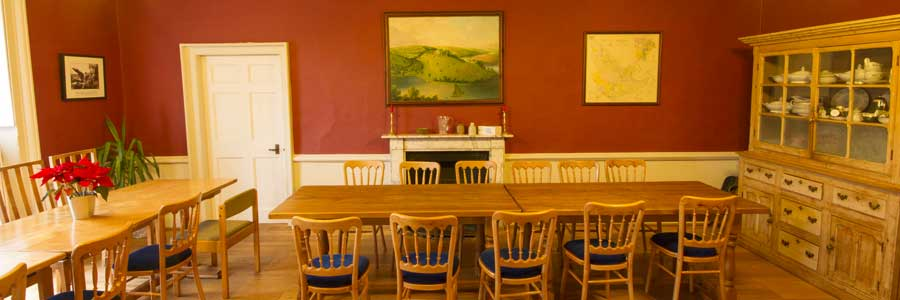 The Dining Room in Sharpham House