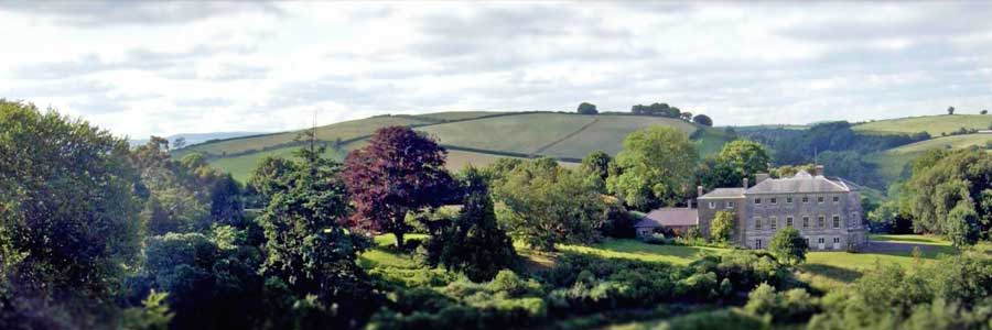 Sharpham House in the beautiful South Devon landscape