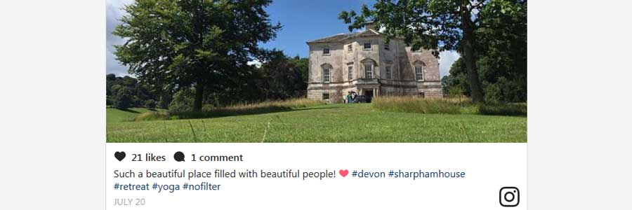 Review of Sharpham in The Culture Trip