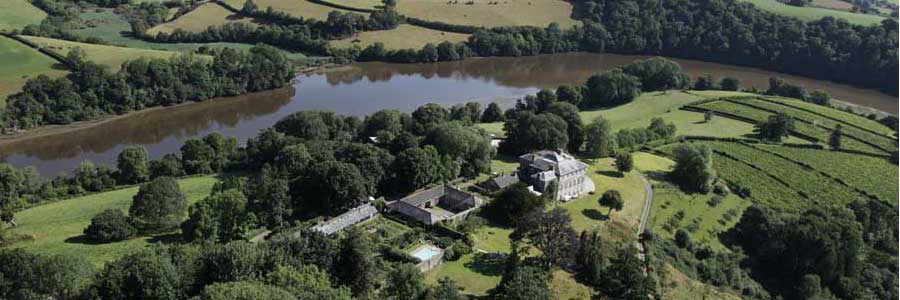 Sharpham Wild for People aerial shot of the estate