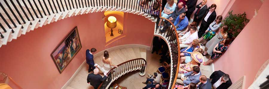 Get married on our famous staircase - licensed for wedding ceremonies